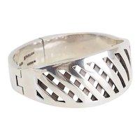 Fantastic vintage sterling silver modernist bracelet by Miguel Pineda