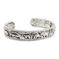 Designer sterling silver Spirit of Africa animals bracelet by Jai John Hardy