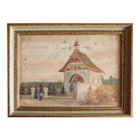 Vienna Dobling antique watercolor painting by Emil Czech Austria