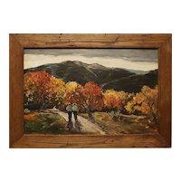 Modern autumn landscape oil painting by Thomas John Mitchell