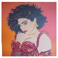 Madonna singer vintage pop art large original painting by Clayton LeFevre