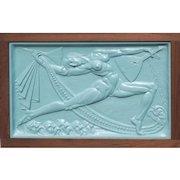 Isidora Duncan dancer balalaika Russian relief sculpture by Boris Blai