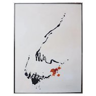 Vintage abstract mid century modern painting by Carla Maria Casagrande