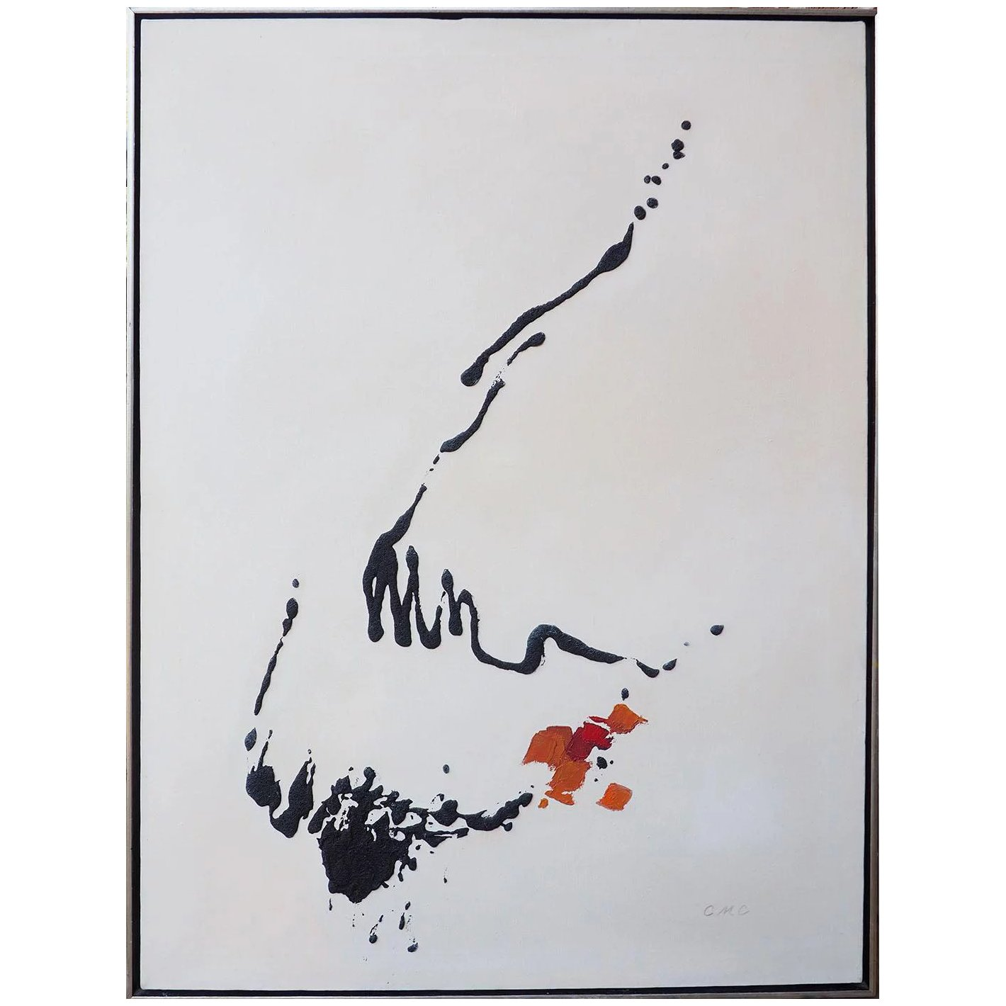 Picture of: Vintage Abstract Mid Century Modern Painting By Carla Maria Casagrande Artnotch Ruby Lane