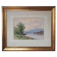 Two vintage 1930s watercolor landscape paintings by William F. Paskell