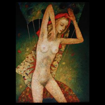Eve original oil painting by Mihail Aleksandrov