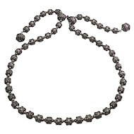 Stunning vintage M.D. Cuernavaca Etruscan style sterling silver bead necklace