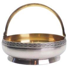 Rare vintage Soviet Russia 875 silver sugar bowl condiment trinket dish