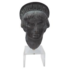 Statue of Liberty head original bronze sculpture by Gabriel Yantorno Argentina