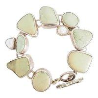 Vintage chunky Echo of the Dreamer pastel gemstone pearl designer bracelet  Mars and Valentine