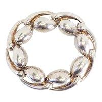 Vintage modern teardrop Charles Krypell  heavy sterling silver bracelet