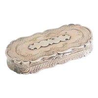 Antique sterling silver trinket snuff pill box by Frederick Marson Birmingham