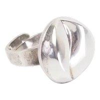 Alton K.E. Palmberg  Sweden sterling silver modernist open design ring sz 8