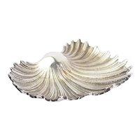 Buccellati Italy sea shell ornate sterling silver vintage trinket dish