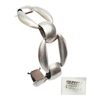 Gorgeous modern sterling silver large chunky brutal links bracelet Mexico