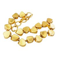Clara Kasavina Studio gorgeous haute couture gold tone metal chunky necklace