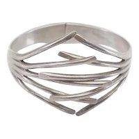 Superb modern modernist vintage sterling silver bracelet