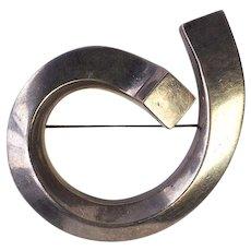 Zina vintage abstract modern modernist designer sterling silver brooch pin