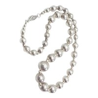 Beautiful modern vintage sterling silver ball beads necklace