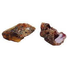 Genuine raw natural Baltic amber 2 large stones 51 grams