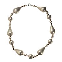 ND Nordic Design sterling silver and 14k gold modern necklace