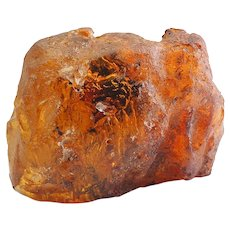 Huge genuine Baltic amber stone with inclusions 91 grams
