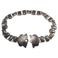 Antique Imperial Russia Caucasian niello 84 silver belt