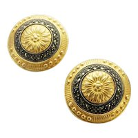 Judith Jack designer vintage marcasite clip on earrings