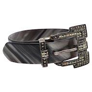 Judith Jack designer sterling silver and marcasite belt buckle bracelet