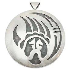 Floyd Namingha Lomokuyvay Native American blackened sterling silver claw pendant