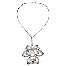 Stunning sterling silver Sweden designer modern necklace by Theresia Hvorslev