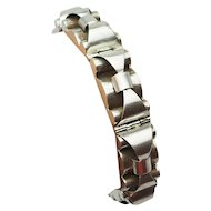 Beautiful modern vintage 900 silver bow link bracelet