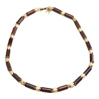 Rare unusual vintage high couture sectioned links necklace by Pierre Cardin