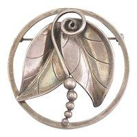 Gorgeous vintage International Sterling leaf pin by Alfonso La Paglia