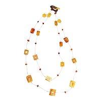 Vintage handmade artisanal butterscotch Baltic amber earthy modern necklace