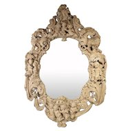 Monumental 19th Century Baroque Mirror from Italy
