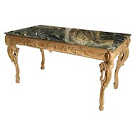 Antique English Limewood Console Table, Circa 1785