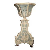 Large and Unique 18th Century Painted Wooden Jardiniere from Bruges