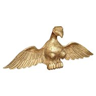 Antique Carved Giltwood Eagle Statue