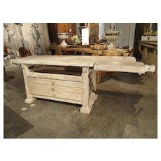 Whitewashed Italian Workbench from Verona, Circa 1750