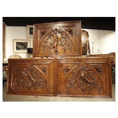 Set of Three Bas Relief Overdoor Panels from France, Circa 1860