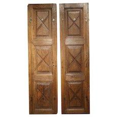 Pair of Circa 1700 Doors from the Piedmont Region of Italy