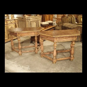 Pair of Antique Painted Console Tables from Northern Italy, Circa 1800