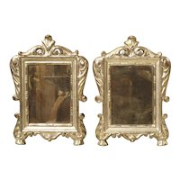 Pair of Small 18th Century Silverleaf Mirrors from Italy