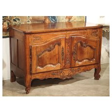 18th Century Louis XV Walnut Wood Buffet from Provence, France