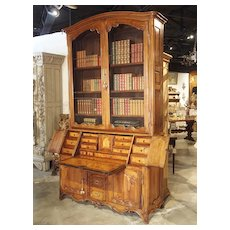 Louis XV Cherrywood Bibliotheque Scriban from Burgundy France, Circa 1750