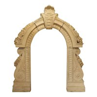 Antique Terra Cotta Lucarne Window Dormer from a Chateau in France, 19th Century