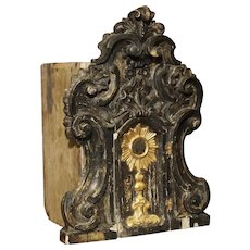 Antique Painted Tabernacle from Parma Italy, Circa 1750