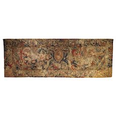 Antique French Beauvais Tapestry from the Late 17th Century