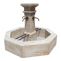 Carved Limestone Village Fountain from Provence, France